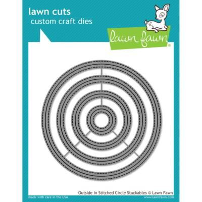 Lawn Cuts -Outside In Stitched Circle Stackables
