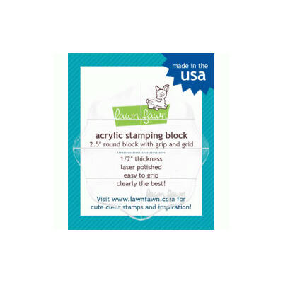 """Lawn Fawn Acrylic Stamping Block 2.5"""" Round"""