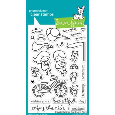 Lawn Fawn 4x6 Clear Stamp - Bicycle Built for You