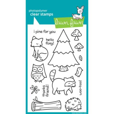 Lawn Fawn 4x6 Clear Stamp - Critters in the Forest