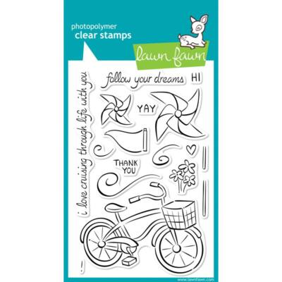 Lawn Fawn 4x6 Clear Stamp - Cruising Through Life