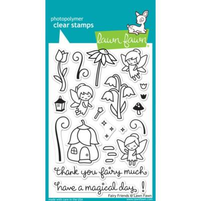 Lawn Fawn 4x6 Clear Stamp - Fairy Friends