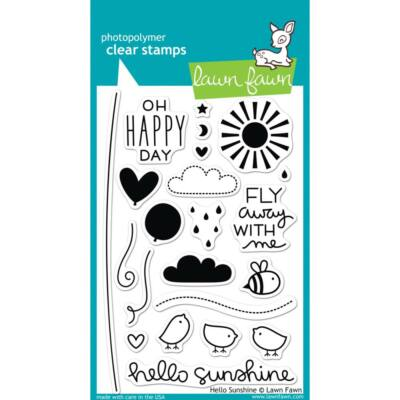 Lawn Fawn 4x6 Clear Stamp - Hello Sunshine