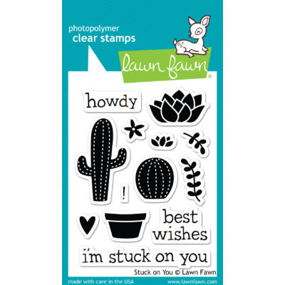 Lawn Fawn Clear Stamp - Stuck on You