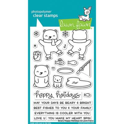 Lawn Fawn Clear Stamp - Beary Happy Holidays