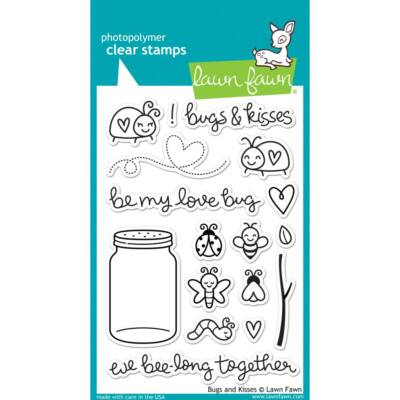Lawn Fawn Clear Stamp - Bugs and Kisses