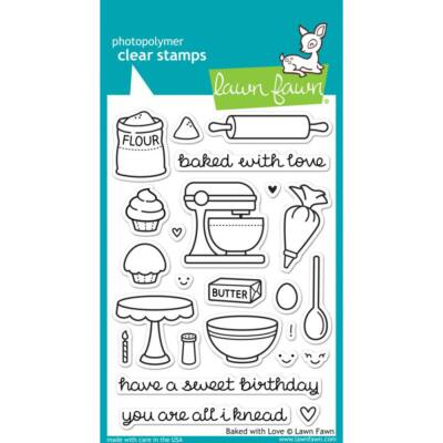 Lawn Fawn Clear Stamp - Baked With Love