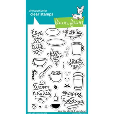 Lawn Fawn Clear Stamp - Love You a Latte