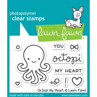 Lawn Fawn Clear Stamp - Octopi My Heart
