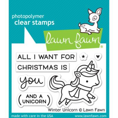 Lawn Fawn Clear Stamp - Winter Unicorn