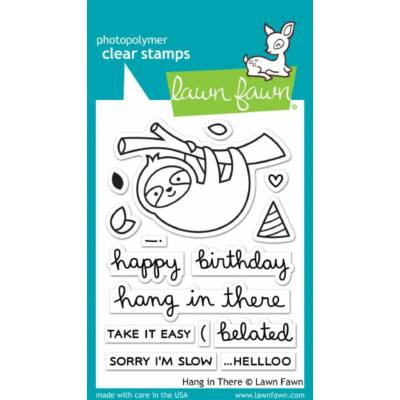 Lawn Fawn Clear Stamp - Hang in There