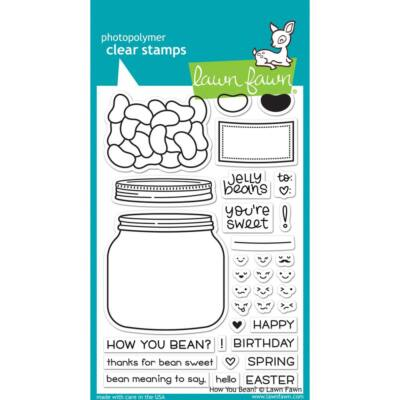 Lawn Fawn 4x6 Clear Stamp - How You Bean?