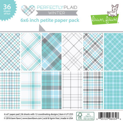 Lawn Fawn - Perfectly Plaid Winter 6x6 Paper Pad