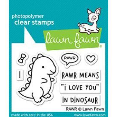 Lawn Fawn 2x3 Clear Stamp - Rawr