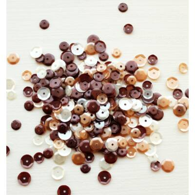 Neat & Tangled Sequin Mix - Coffee and Cream
