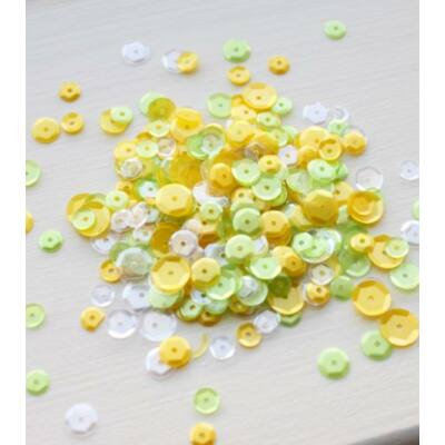 Neat and Tangled Sequin Mix - Lemon Lime