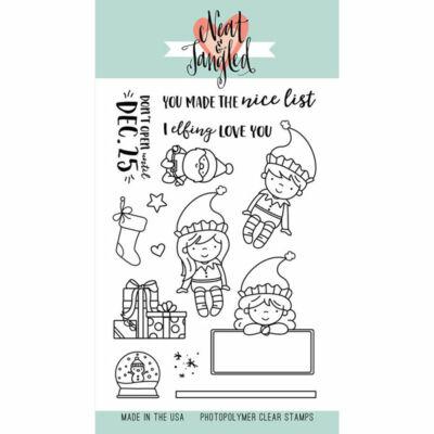 Neat & Tangled 4x6 Stamp Set - Elfs and Their Shelf