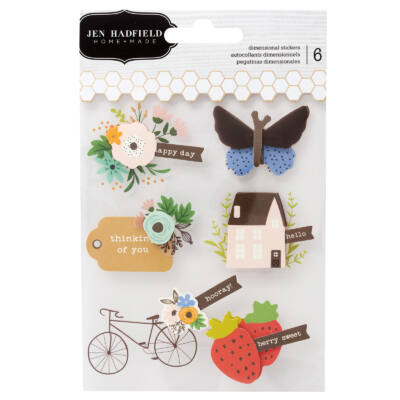 Pebbles - Jen Hadfield - Along The Way Layered Stickers (6 Piece)