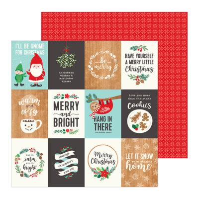 Pebbles - Cozy & Bright 12x12 Paper - Merry Little Christmas
