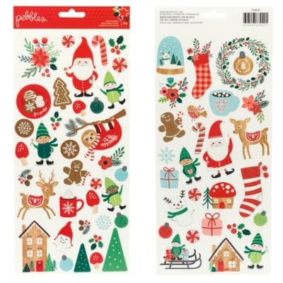 Pebbles - Cozy & Bright 6x12 Stickers 62/Pkg