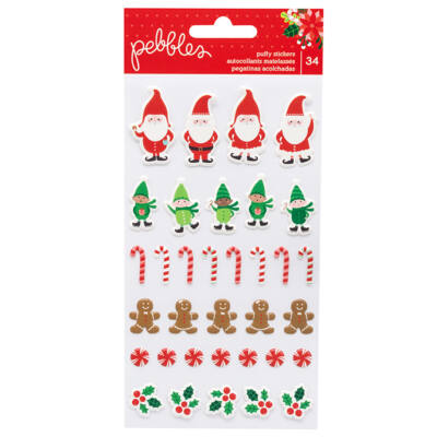 Pebbles - Cozy & Bright Puffy Stickers 34/Pkg