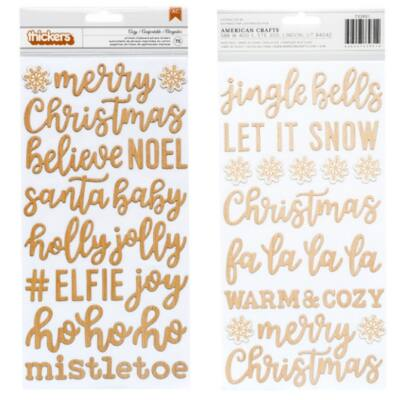 Pebbles - Cozy & Bright Chipboard Thickers - Cozy