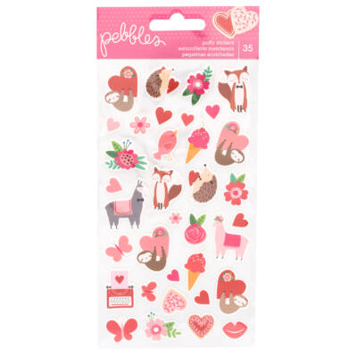 Pebbles - Loves Me Puffy Stickers (35 Piece)