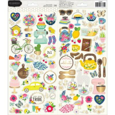 Pebbles - My Bright Life 6x12 Cardstock Stickers