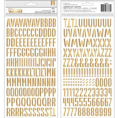 Pebbles - My Bright Life Gold Foam Alphabet Stickers