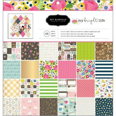 Pebbles - My Bright Life 12x12 Paper - Bright Life