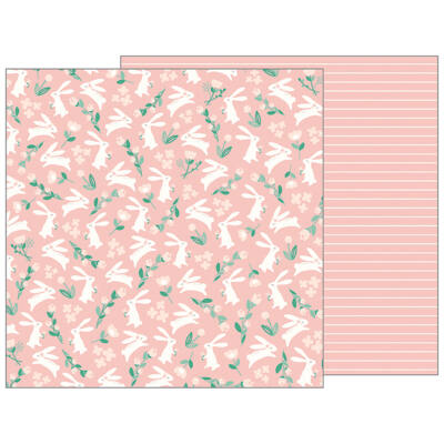 Pebbles - Nigh Night 12x12 Patterned Paper - Bunny Love