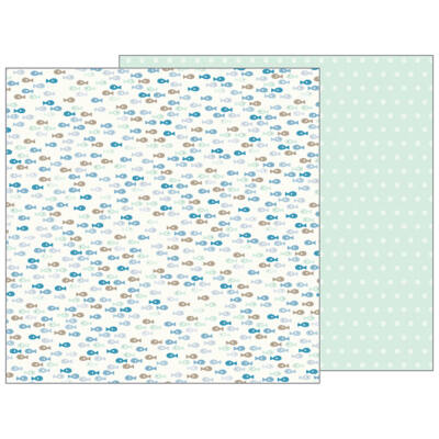 Pebbles - Nigh Night 12x12 Patterned Paper - Gone Fishing