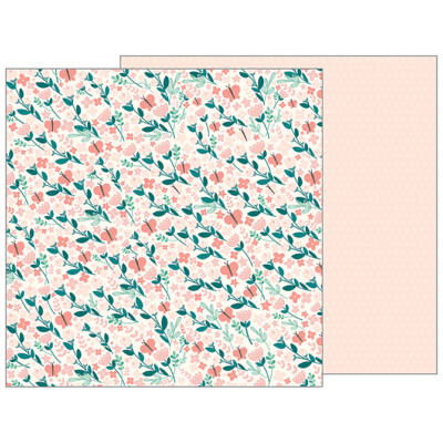 Pebbles - Nigh Night 12x12 Patterned Paper - Summer Breeze