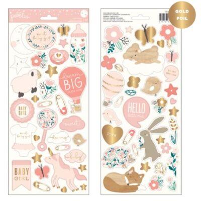 Pebbles - Nigh Night 6x12 Stickers - Girl