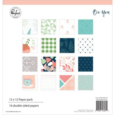 Pinkfresh Studio - Be You 12x12 Double-Sided Paper Pack