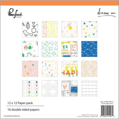 Pinkfresh Studio - Dream On 12x12 Paper Pad