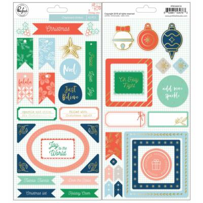 Pinkfresh Studio - Holiday Vibes Chipboard Stickers