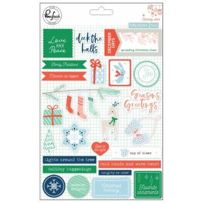 Pinkfresh Studio - Holiday Vibes Puffy Stickers