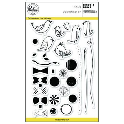 Pinkfresh Studio Clear Stamp - Birds & Bows