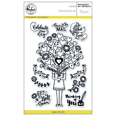 Pinkfresh Studio Clear Stamp - Bouquet of Hearts