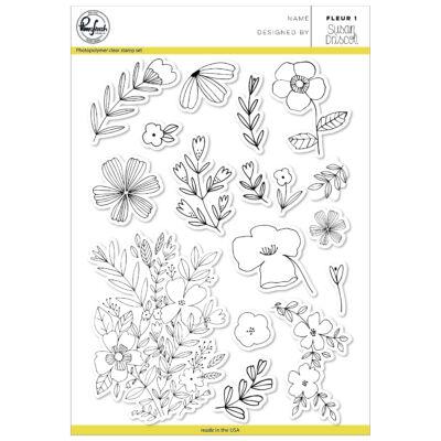 Pinkfresh Studio Clear Stamp - Fleur 1