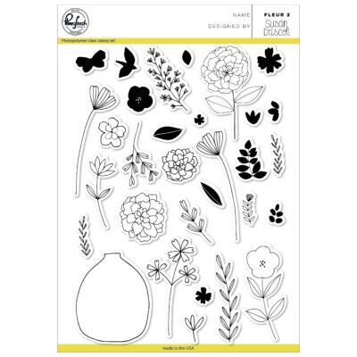 Pinkfresh Studio Clear Stamp - Fleur 2