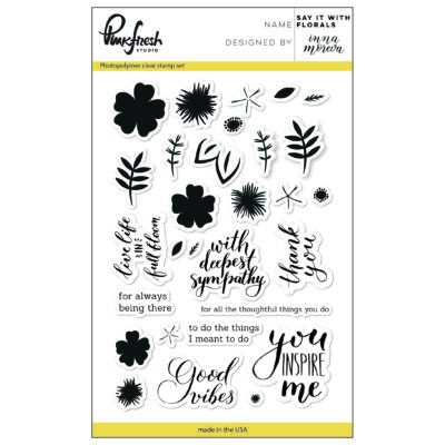 Pinkfresh Studio Say It With Florals Stamp Set