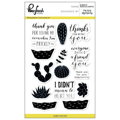 Pinkfresh Studio Simply Succulents Stamp Set