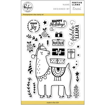 Pinkfresh Studio Clear Stamp - Festive Llama