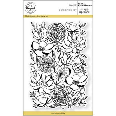 Pinkfresh Studio Clear Stamp - Floral Background