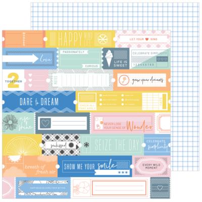 Pinkfresh Studio - Simple & Sweet 12x12 Paper - Fresh Air