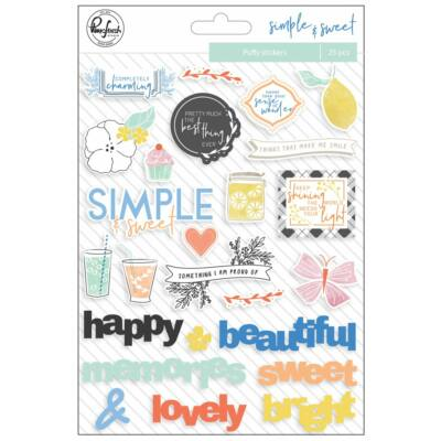 Pinkfresh Studio - Simple & Sweet Puffy Stickers