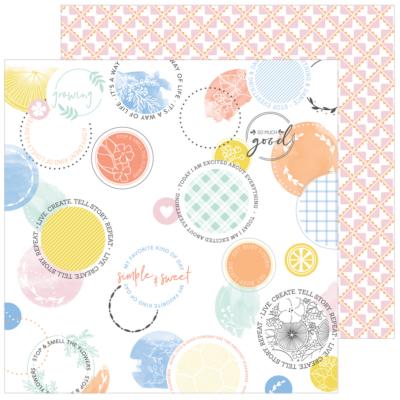 Pinkfresh Studio - Simple & Sweet 12x12 Paper - Splendid