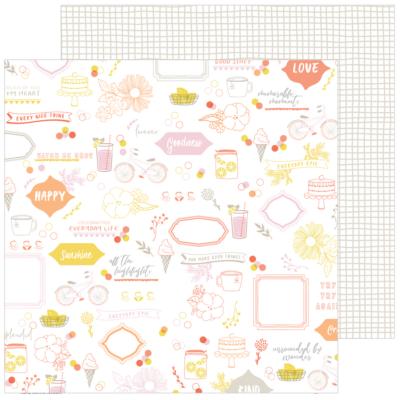 Pinkfresh Studio - Simple & Sweet 12x12 Paper - Sweet Life